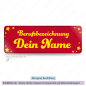 Mobile Preview: Namensschild rot mit Sternchen