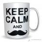 Preview: Tasse Keep calm and Mustache (Bart)