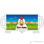 Mobile Preview: Tasse Hahn mit Name