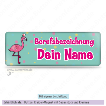 Medi-Flamingo türkis (25x70mm)